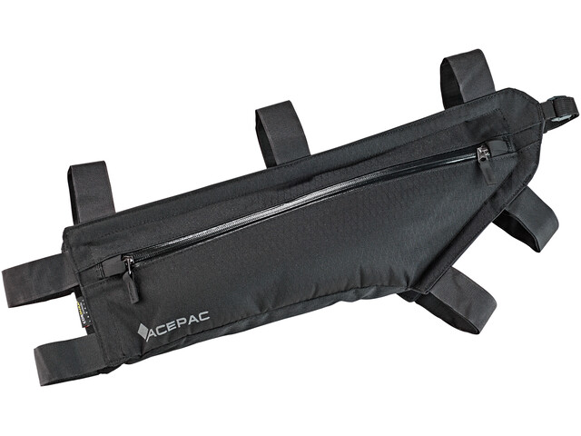 Acepac Zip Frame Bag Bike Pannier L black